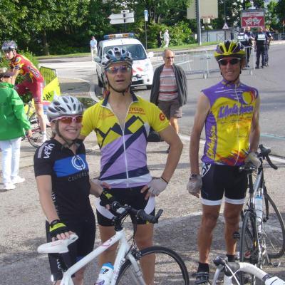 Montée Vélocio avec Christine, Thierry D et Bruno.
