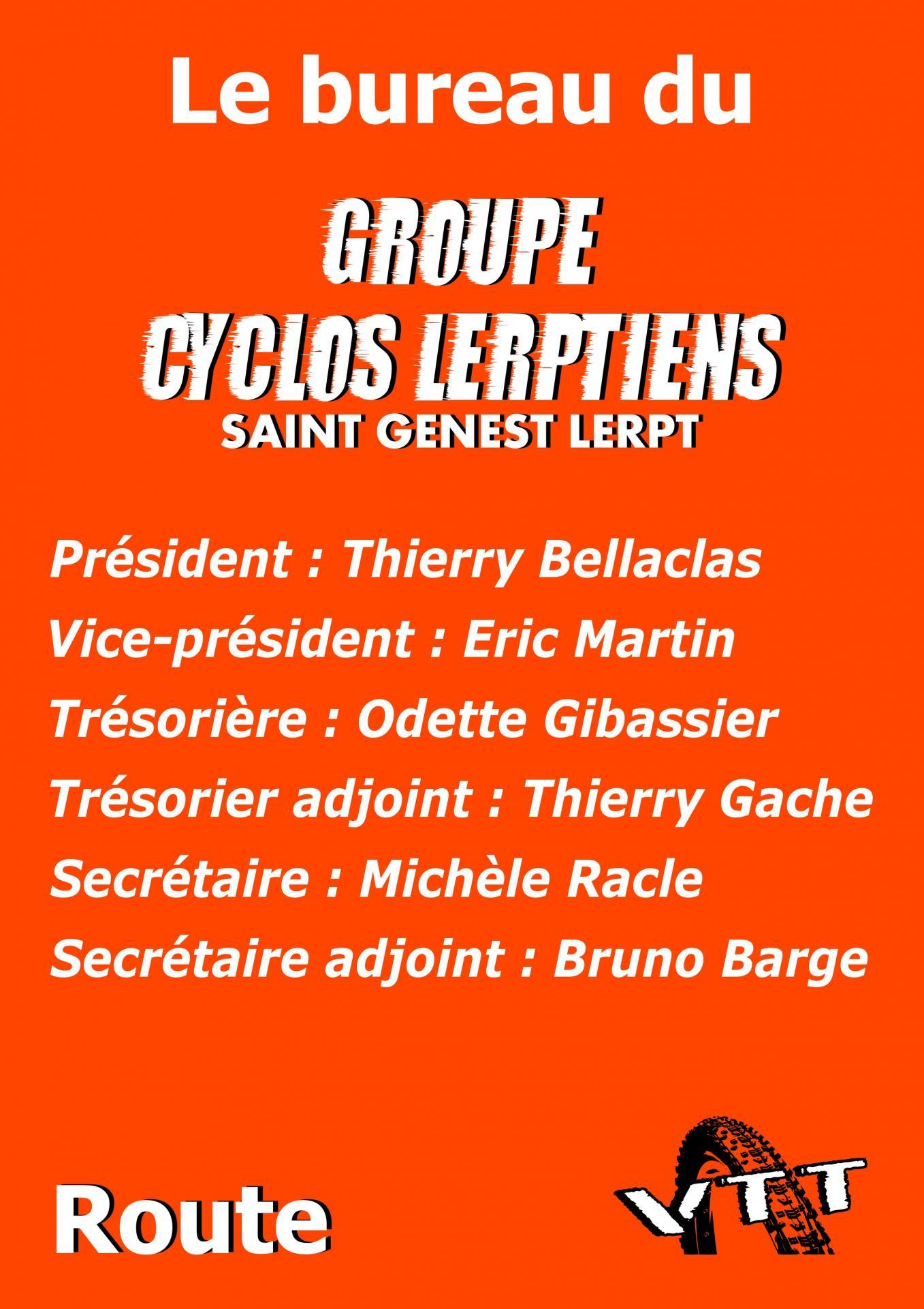 Bureau Groupe Cyclos Lerptiens 2017
